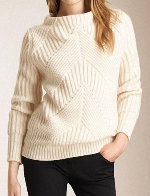 свитер с диагональным узором