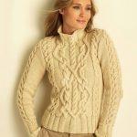 свитер с аранами спицами схема