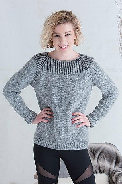 свитер реглан спицами